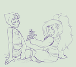 Pearlmethyst Week Day 3 - Flowers by Black-Tea-Dragon