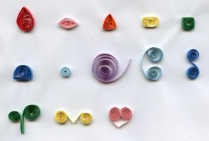 Quilling Sampler - Jan 1 by Yathandra