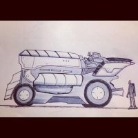 Inktober Day 12. Sci Fi Vehicle by Yeti-Labs