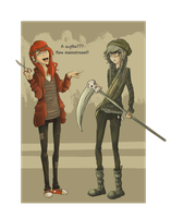 Hipster Grell and Undertaker by RainbowOrhidee