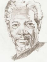 Morgan Freeman by thierryart