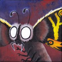 Monster portrait: Mothra by Zwerg-im-Bikini