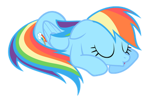 Rainbow Dash - cutest snooze ever by beastywizard