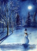 Starlit Snowman by Tater-Vader
