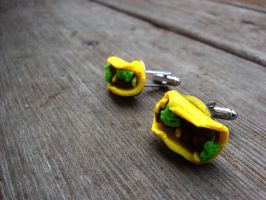 Taco Cuff Links by SteamPixy