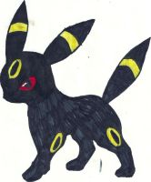 Umbreon Coloured by CoolMan666