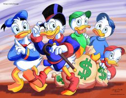 ArtForce Pre 1960s Jam Disney's Uncle Scrooge by coreylandis