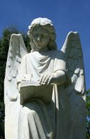 Mount Olivet Cemetery Archangel Uriel 80 by Falln-Stock