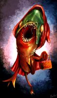Little Red Piranha Hood by Bawarner