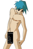 Nude Model 2-D censored by Zommbay