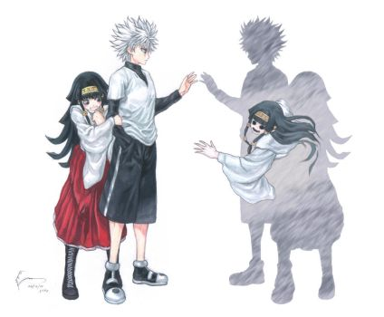 Killua and Alluka by Nick-Ian