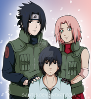 A SasuSaku Family by Sastis