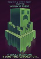Creeper Tower Poster by InsidiousSys