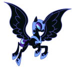 'ComiCon' Nightmare Moon -no hair- by Kitana-Coldfire