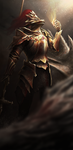 Dragon Slayer Ornstein by HerrKamissar
