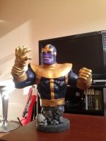 Thanos Bust Statue by sanyaca