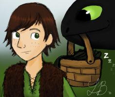 Hiccup and Toothless by DannyPhantomAddict