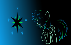 Aurora Nightfall (Outline Wallpaper) by Zacatron94