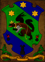 Heraldic Arms of Clan Hrafnblut-Samur by Schwarzenwolf