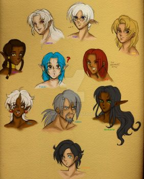 Male Characters - Part I by Menkalinan