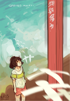 Spirited Away- [+SPEEDPAINT] by IceLaws