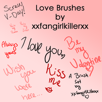 I Love You Brushes by xxfangirlkillerxx