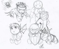 Picture a day 134: Young Avengers CHIBIIIIIIII! by ConstantM0tion