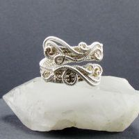 Freeform Swirls Adjustable Ring by sylva