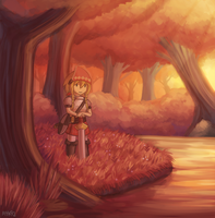 Sunset Forest by ayyk92