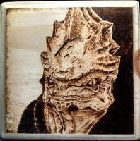 Urdnot Wrex from Mass Effect Woodburn by FreedomSparrow3