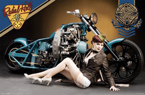 west coast choppers poster by candeecampbell