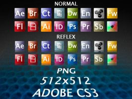 Glossy Adobe CS3 by cahr-g