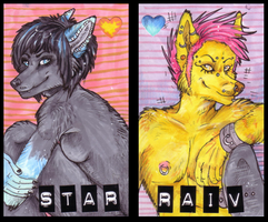 Raiv and Star Matching Badges by JustRach