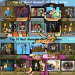 Top 10 Best and Worst Moments on Total Drama. by creepypastajack