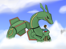 Kidnapped by Plushie Rayquaza by Auroracuno