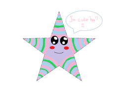 a PPG colour (pink,blue and green) star by DianaDrawingLover
