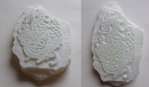 Soapstone carving test I by Feivelyn