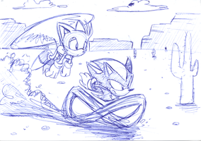 Tails and Shadow by Faezza