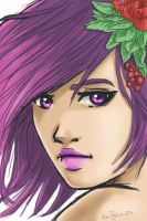 girl flowers color by atrellus31