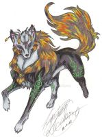 Wolf Midna: by erwil: colored by Mr-Waaah