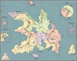 A New Map of Aeolond by Elemental-Elf