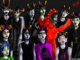 The 12 trolls by TheHomicidalPigeon