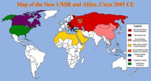 Map of the New USSR and Allies, Circa 2045 CE by RedRich1917
