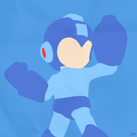 Mega Man (Simplistic) by Geoffery10