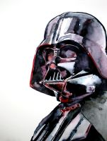 Darth Vader watercolor sketch by RobHough