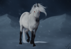 Equine Secret Santa 2013 Za'roc by kalmanen