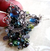 Maelstrom Earrings view 1 by sparkfairy
