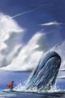 sperm whale and the man by suza90