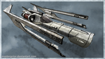 Orinia Spaceship - old/dirty by MasterPrior