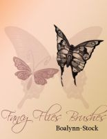 ::Fancy Flies Brushes:: by Boalynn-Stock